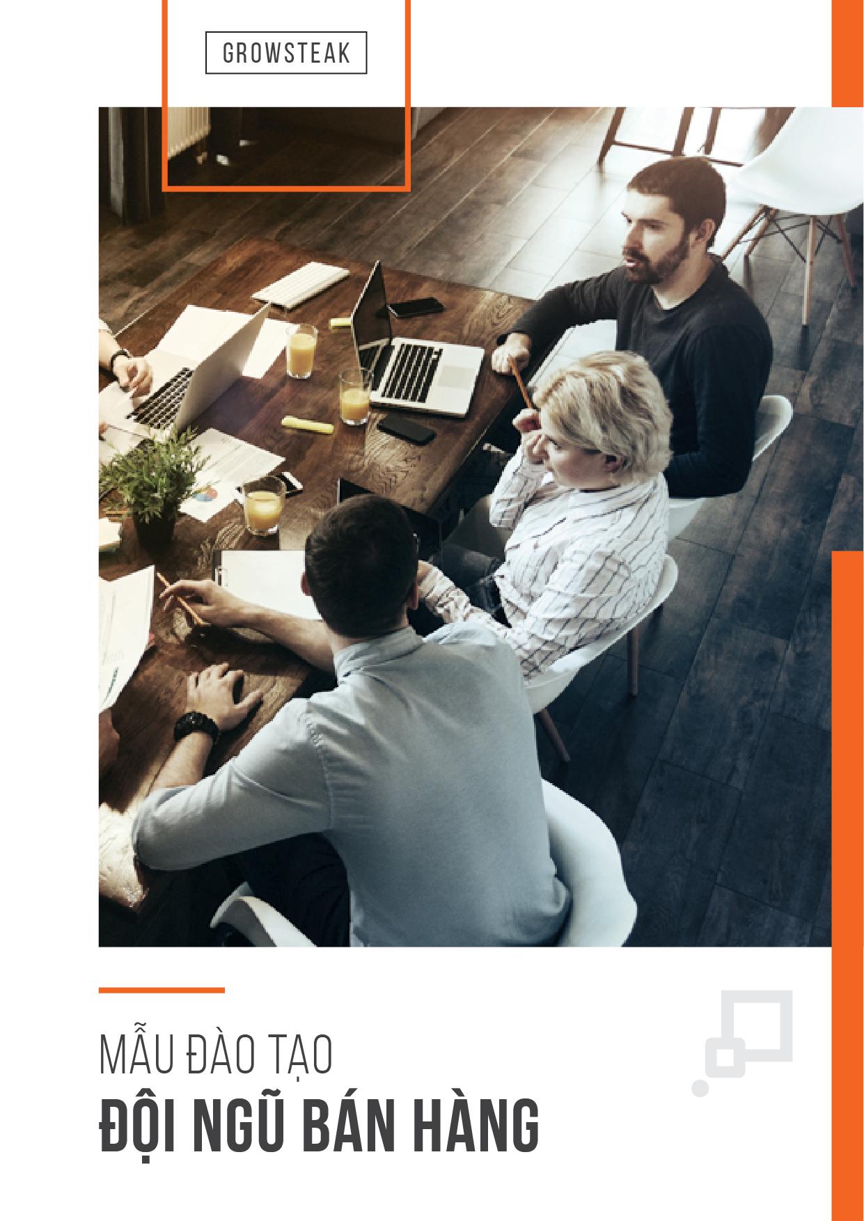[COVER] Mẫu đào tạo đội ngũ bán hàng