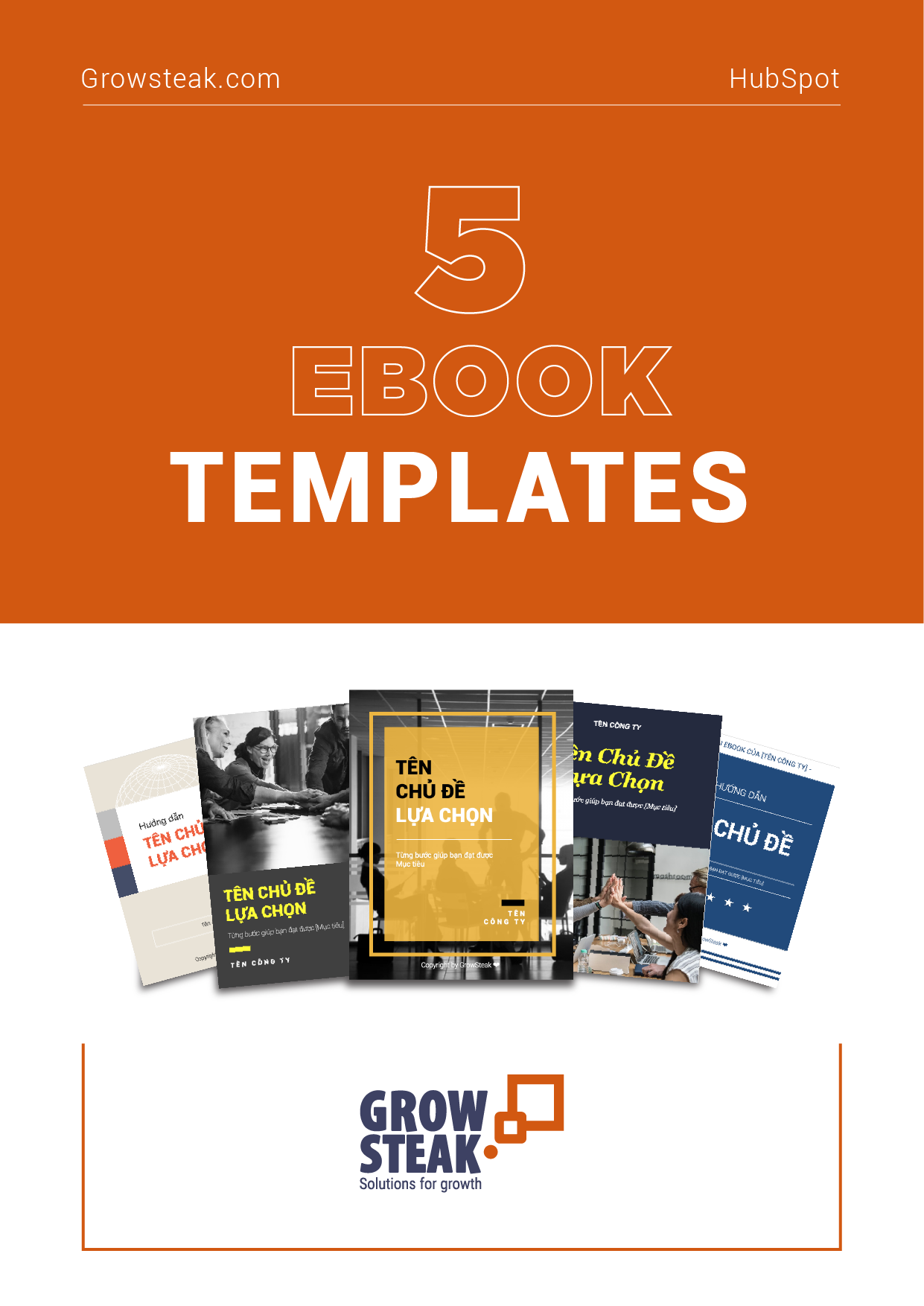 5 Ebook Templates